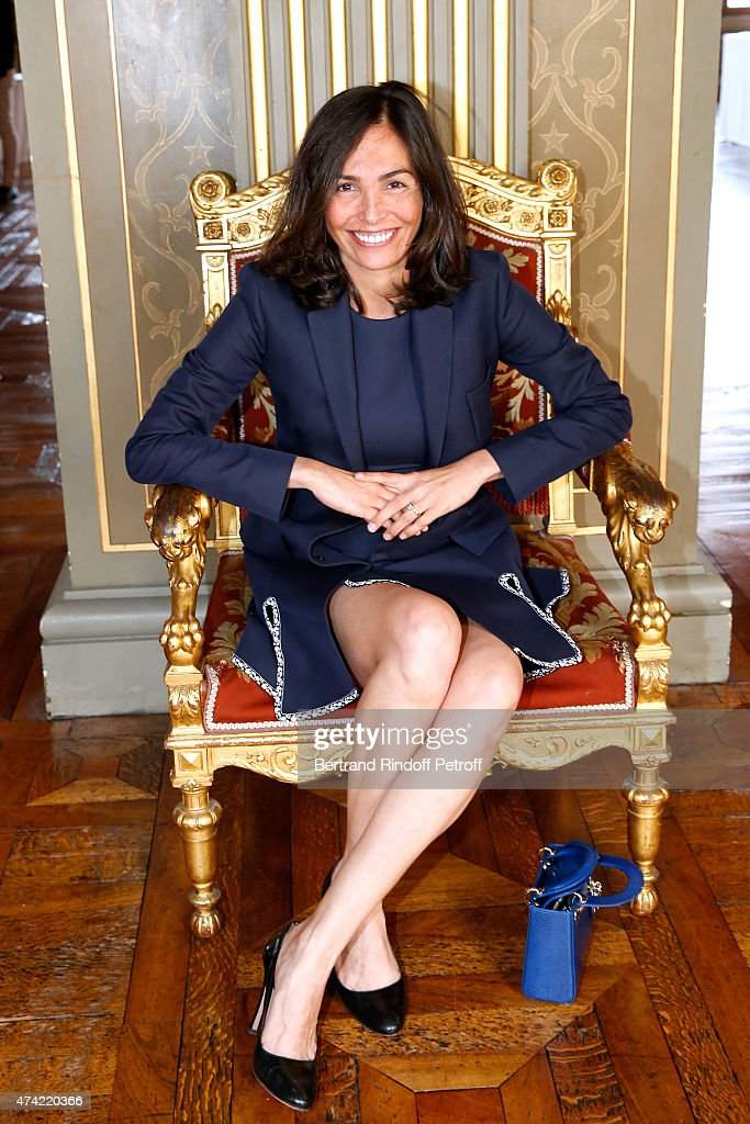 Actress Ines Sastre attends Mayor of Paris Anne Hidalgo Awards the 'Grand Vermeil' Medal to Tennis player Rafael Nadal at Mairie de Paris on May 21, 2015 in Paris, France.