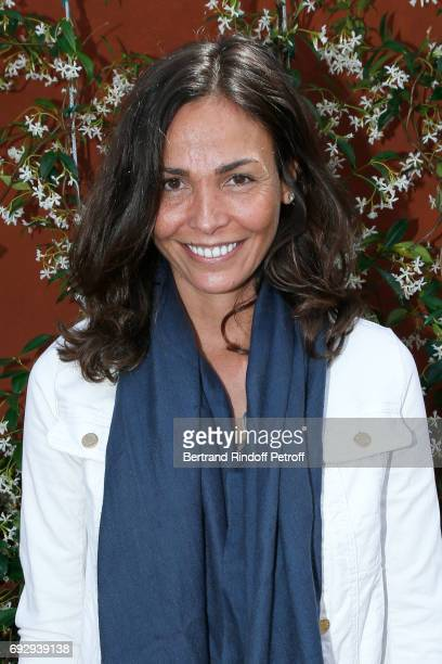 ACtress Ines Sastre attends the 2017 French Tennis Open Day Ten at Roland Garros on June 6 2017 in Paris France