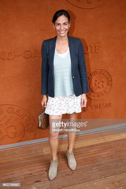 Actress Ines Sastre attends the 2018 French Open Day Two at Roland Garros on May 28 2018 in Paris France