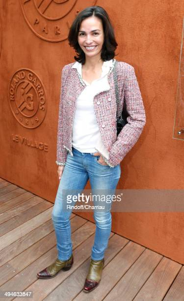 Actress Ines Sastre attends the Roland Garros French Tennis Open 2014 Day 6 on May 30 2014 in Paris France