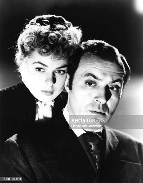 Actress Ingrid Bergman and Charles Boyer in a scene from the movie Gaslight