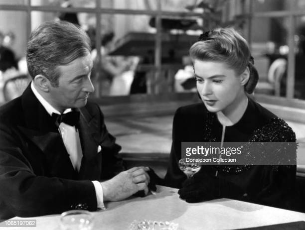 Actress Ingrid Bergman and Claude Rains in a scene from the movie Notorious