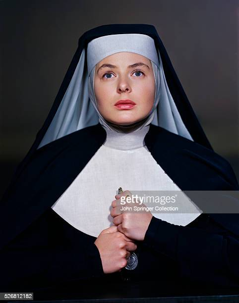 Actress Ingrid Bergman as Sister Benedict