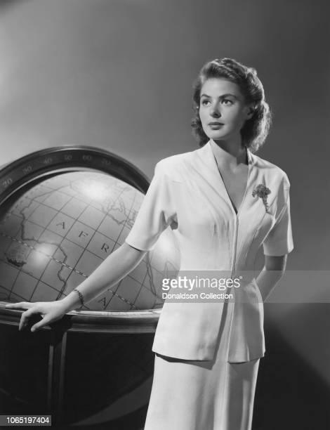 "Actress Ingrid Bergman in a scene from the movie ""Casablanca"""