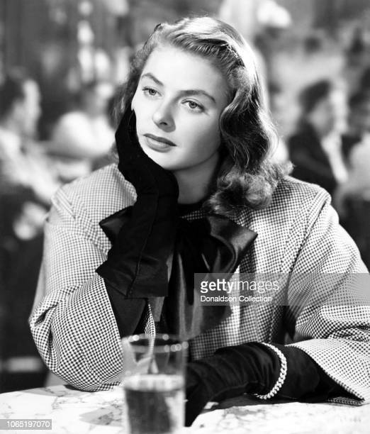 "Actress Ingrid Bergman in a scene from the movie ""Notorious"""
