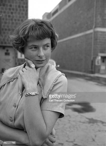 Actress Ingrid Bergman poses for a portrait on the backlot in April 1948 in Los Angeles California