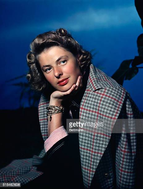 10/1948 Actress Ingrid Bergman UPI color slide