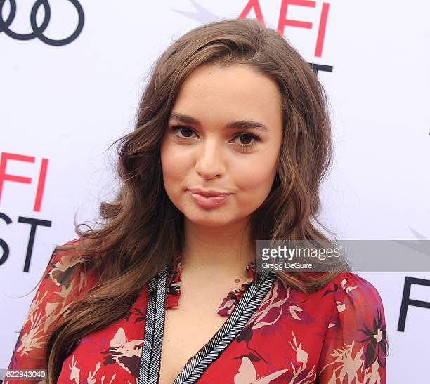 Actress Ingrid Bisu arrives at the AFI FEST 2016 Presented By Audi Screening Of Sony Pictures Classic's Toni Erdmann at the Egyptian Theatre on...