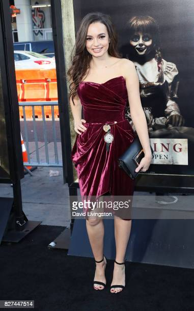 Actress Ingrid Bisu attends the premiere of New Line Cinema's Annabelle Creation at TCL Chinese Theatre on August 7 2017 in Hollywood California