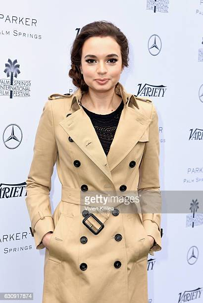 Actress Ingrid Bisu attends Variety's Creative Impact Awards and 10 Directors to Watch Brunch presented by MercedesBenz at the 28th Annual Palm...