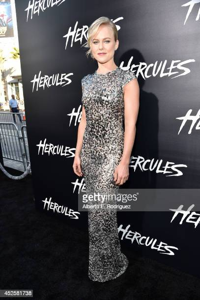 """Actress Ingrid Bolso Berdal attends the """"Hercules"""" premiere held at TCL Chinese Theatre on July 23, 2014 in Hollywood, California."""