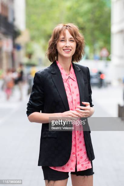 Actress Ingrid GarcíaJonsson attends 'Yo mi mujer y mi mujer muerta' photocall on June 24 2019 in Madrid Spain