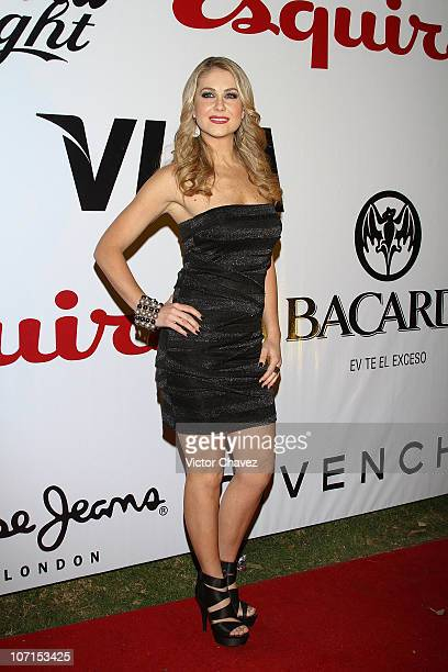 Actress Ingrid Martz attends the Esquire Mexico Magazine 2nd Anniversary Masquerade Party at Reforma 423 on November 25 2010 in Mexico City Mexico
