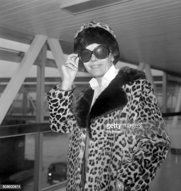 Actress Ingrid Pitt at Heathrow Airport