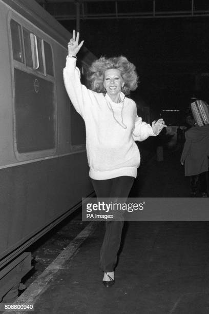 Actress Ingrid Pitt at London's Victoria Station en route to rehearsals for a new thriller play 'Woman of Straw' above platform 16 The rehearsal room...