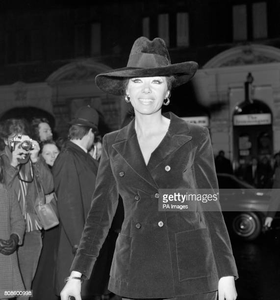 Actress Ingrid Pitt at the premiere of Under Milk Wood at the Odeon cinema St Martin's Lane London