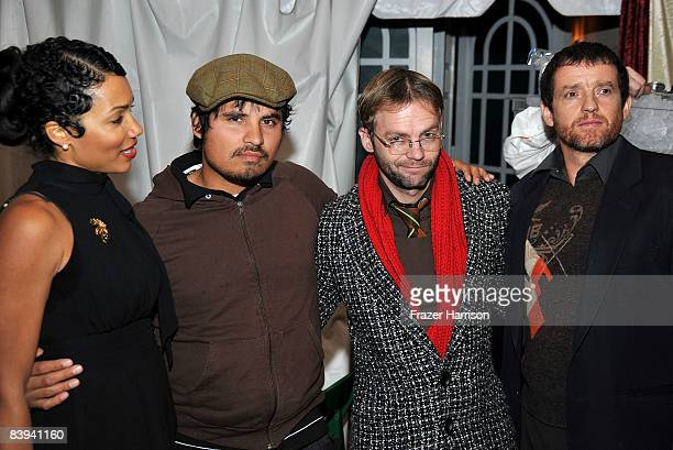Actress Ingrid Rogers, actor Michael Pena, Esteban Powell, and Justin Louis pose during the Church of Scientology Celebrity Centre's 16th annual...
