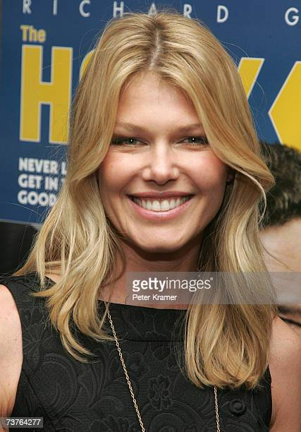 Actress Ingrid Seynhaeve attends the Miramax Films premiere of The Hoax at Cinema 13 on April 1 2007 in New York City