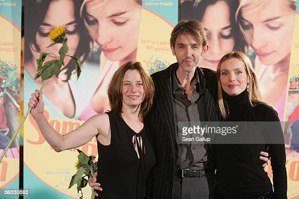 Actress Inka Friedrich actor Andreas Schmidt and actress Nadja Uhl arrive for premiere of the new German comedy film Sommer vorm Balcon January 5...