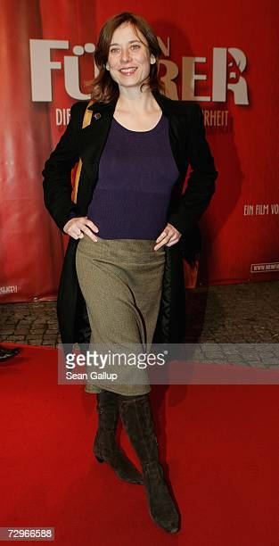 """Actress Inka Friedrich attends the Berlin premiere of the film """"Mein Fuehrer,"""" a comedy about Adolf Hitler, at the Delphi Filmpalast January 10, 2006..."""