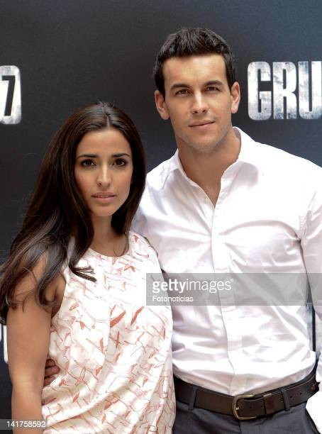 Actress Inma Cuesta and actor Mario Casas attend a photocall for 'Grupo 7' at the Intercontinental Hotel on March 23 2012 in Madrid Spain