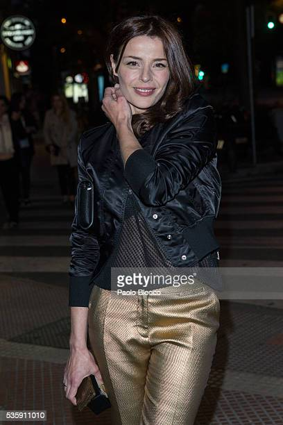 Actress Inma del Moral is seen arriving to 'Nuestros Amantes' premiere at Palafox Cinema on May 30 2016 in Madrid Spain