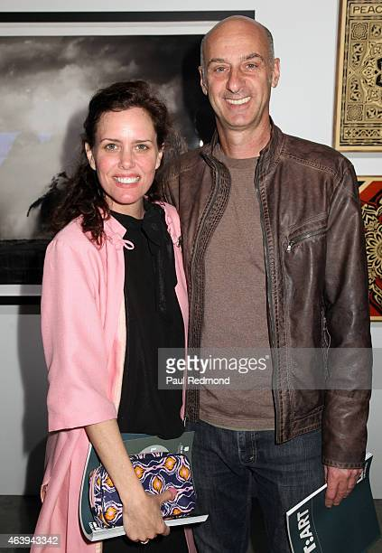 Actress Ione Skye and actor David Marciano attend the LIFTArt Gallery Show and Art Auction at Quixote Studios on February 19 2015 in Los Angeles...