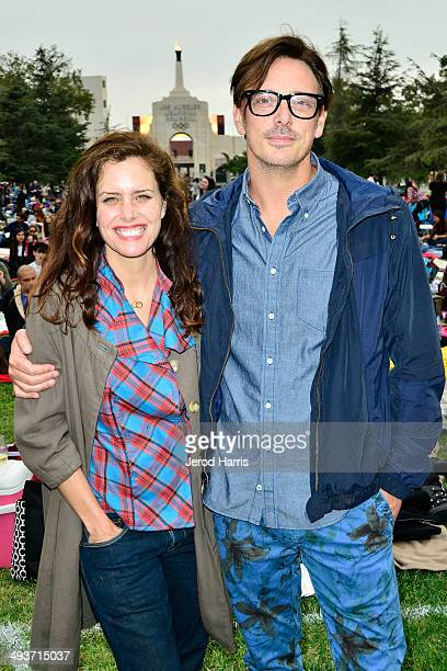 Actress Ione Skye and actor Donovan Leitch attend the 25th Anniversary Screening of 'Say Anything' at Exposition Park on May 24 2014 in Los Angeles...