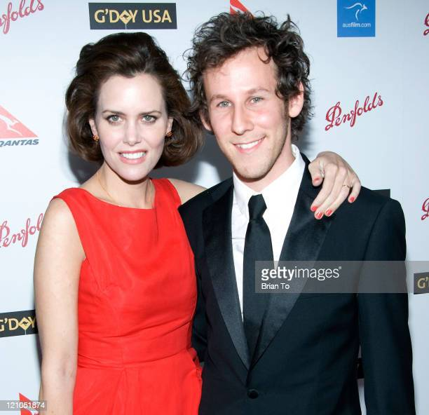 Actress Ione Skye and husband musician Ben Lee arrive at Australia Week 2009 Black Tie Gala Arrivals at Hollywood Highland Grand Ballroom on January...