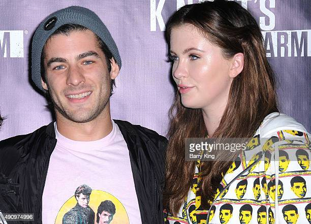 Actress Ireland Baldwin and guest attend Knott's Scary Farm Black Carpet at Knott's Berry Farm on October 1 2015 in Buena Park California