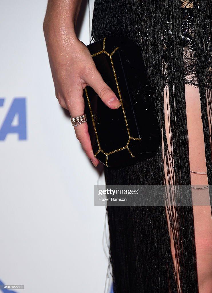 Actress Ireland Baldwin arrives at PETA's 35th Anniversary Party at Hollywood Palladium on September 30, 2015 in Los Angeles, California.