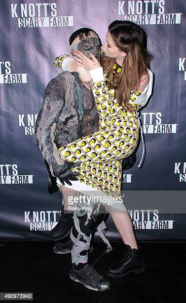 Actress Ireland Baldwin attends Knott's Scary Farm Black Carpet at Knott's Berry Farm on October 1 2015 in Buena Park California