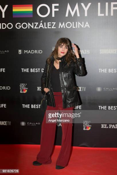 Actress Irena Arcos attends 'The Best Day Of My Life' Madrid premiere at Callao cinema on March 13 2018 in Madrid Spain