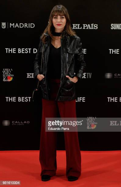 Actress Irena Arcos attends the 'The Best Day of My Life' premiere at Callao cinema on March 13 2018 in Madrid Spain