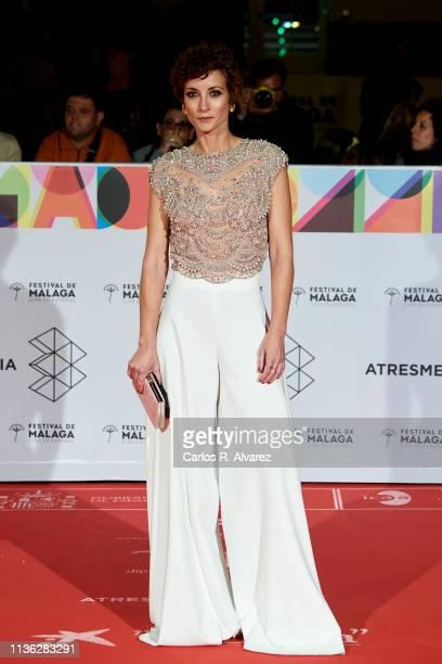 Actress Irene Anula attends 'Esto no es Berlin' premiere during the 22th Malaga Film Festival on March 16, 2019 in Malaga, Spain.