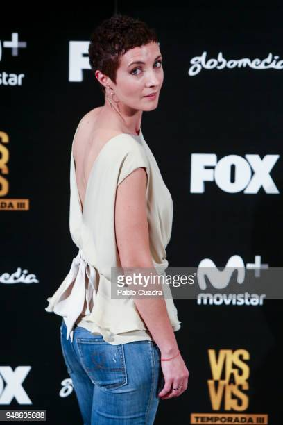 Actress Irene Anula attends the 'Vis A Vis' photocall at VP Plaza de Espana Hotel on April 19 2018 in Madrid Spain