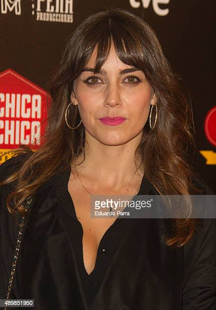 Actress Irene Arcos attends 'De chica en chica' premiere at Palafox cinema on September 24 2015 in Madrid Spain