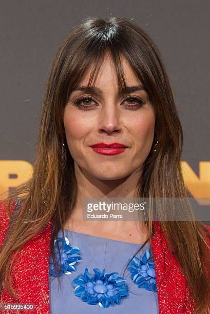 Actress Irene Arcos attends 'El pregon' premiere at Capitol cinema on March 16 2016 in Madrid Spain