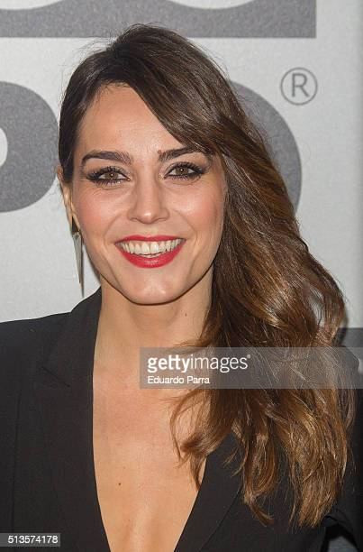 Actress Irene Arcos attends Gioseppo 25th anniversary party photocall at Callao cinema on March 3 2016 in Madrid Spain