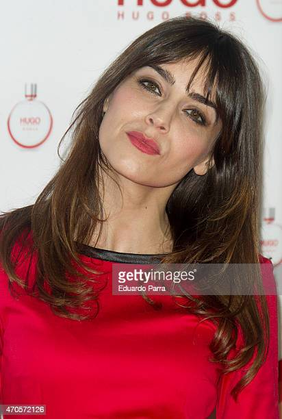 Actress Irene Arcos attends Hugo Boss Woman fragrance presentation photocall at Matadero Madrid on April 21 2015 in Madrid Spain