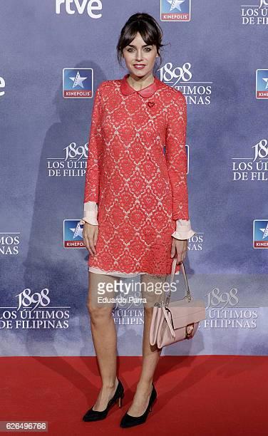 Actress Irene Arcos attends the '1898 los ultimos de Filipinas' premiere at Kinepolis cinema on November 29 2016 in Madrid Spain