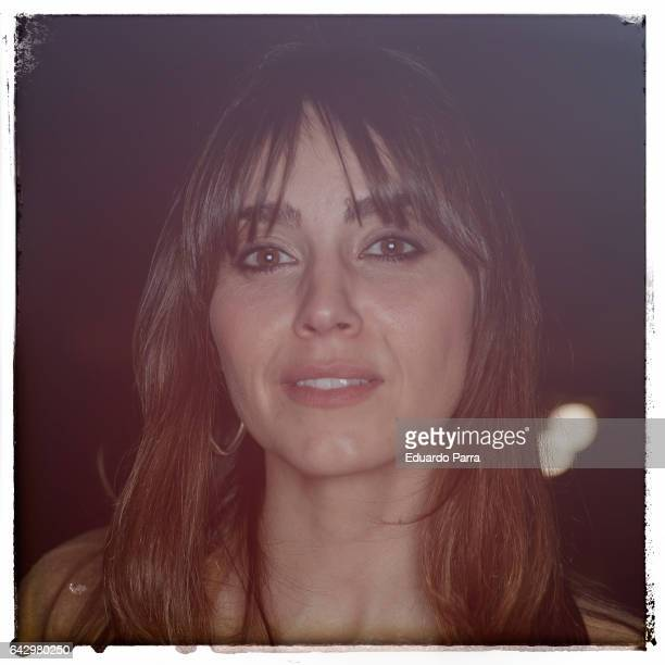 MADRID SPAIN FEBRUARY 19 Actress Irene Arcos attends the kissing room of Ailanto show during Mercedes Benz Fashion Week Madrid Autumn / Winter 2017...