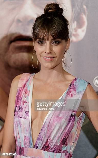 Actress Irene Arcos attends the 'Lejos del mar' premiere at Palafox cinema on August 30, 2016 in Madrid, Spain.