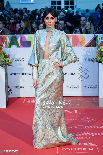 Actress Irene Arcos attends the Malaga Film Festival 2019 closing day gala at Cervantes Theater on March 23 2019 in Malaga Spain