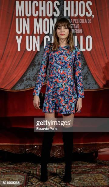 Actress Irene Arcos attends the ''Muchos Hijos Un Mono Y Un Castillo' premiere at Callao cinema on December 13 2017 in Madrid Spain