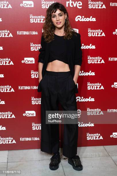 Actress Irene Arcos attends to quotLa Pequena Suizaquot premiere at Capitol Cinema on April 24 2019 in Madrid Spain