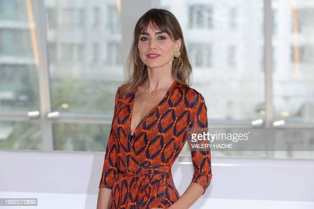 Actress Irene Arcos poses during a photocall for The pier TV series as part of the Mipcom on October 16 2018 in Cannes southeastern France