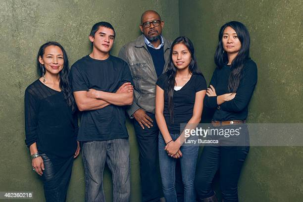 Actress Irene Bedard actor John Reddy producer Forest Whitaker actress Jashaun St John and writer/director Chloe Zhao of 'Songs My Brothers Taught...