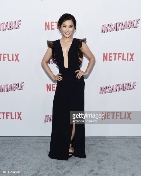 Actress Irene Choi arrives at Netflix's 'Insatiable' Season 1 Premiere at ArcLight Hollywood on August 9 2018 in Hollywood California