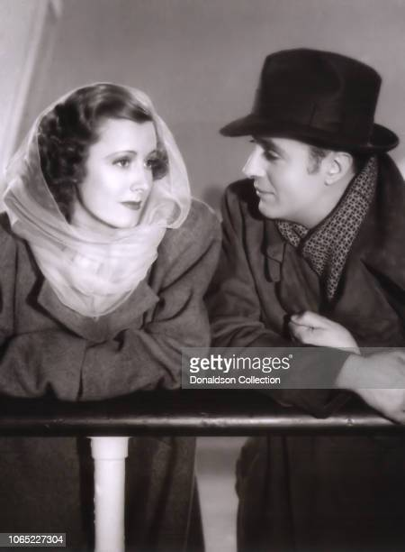 Actress Irene Dunne and Charles Boyer in a scene from the movie Love Affair